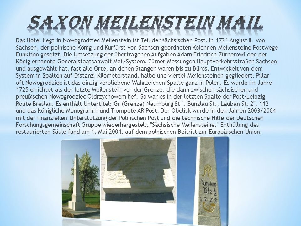 Saxon Meilenstein mail