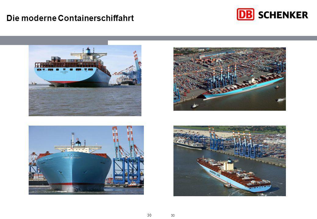 Die moderne Containerschiffahrt