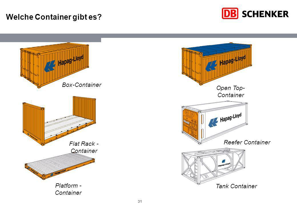 Welche Container gibt es