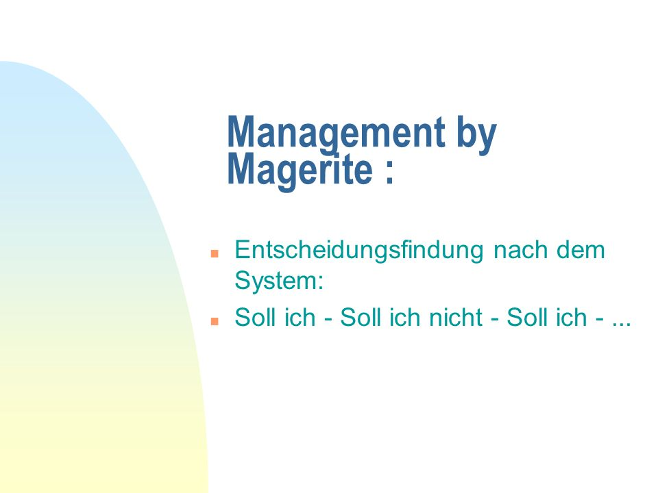 Management by Magerite :