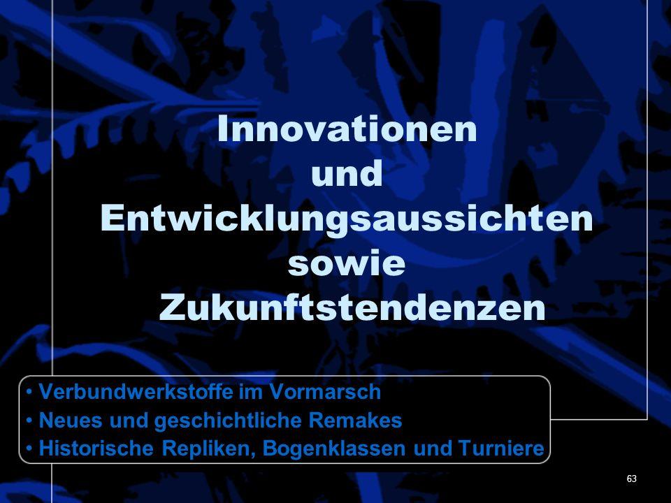 Innovationen und Entwicklungsaussichten sowie Zukunftstendenzen