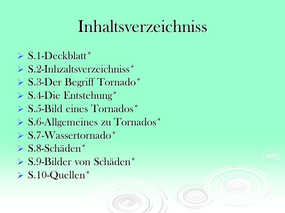 Inhaltsverzeichniss S.1-Deckblatt* S.2-Inhzaltsverzeichniss*