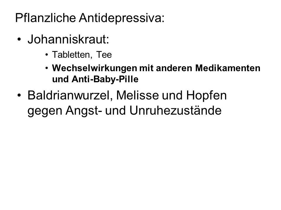 Pflanzliche Antidepressiva: