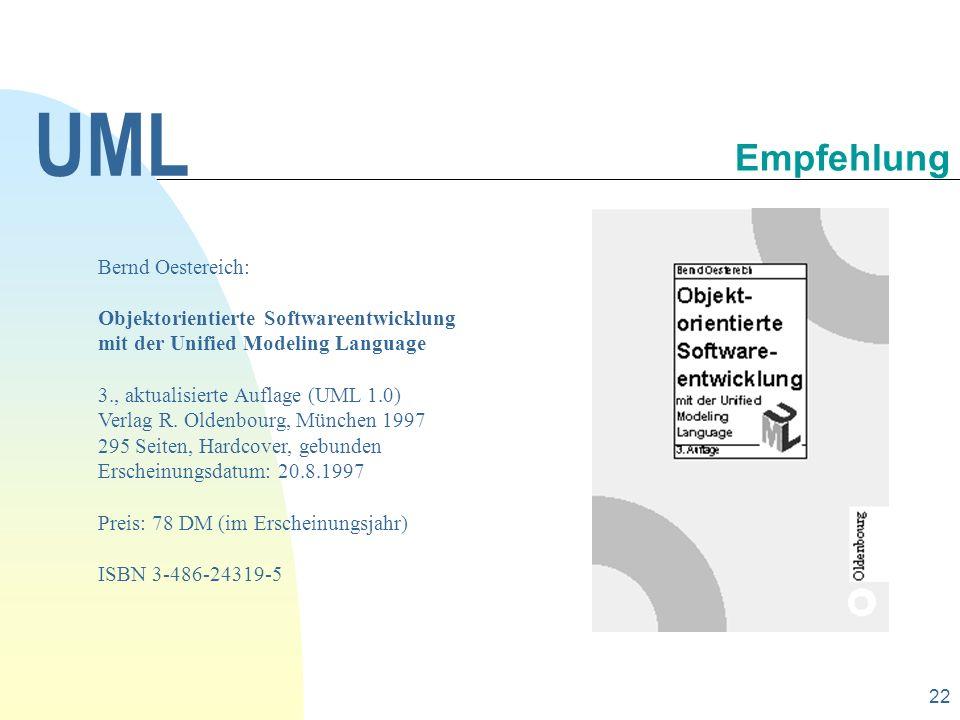 UML Empfehlung Bernd Oestereich: