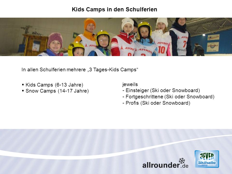 Kids Camps in den Schulferien