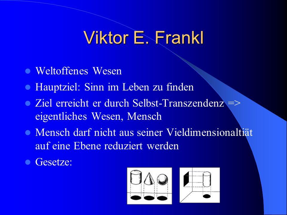 Viktor E. Frankl Weltoffenes Wesen Hauptziel: Sinn im Leben zu finden