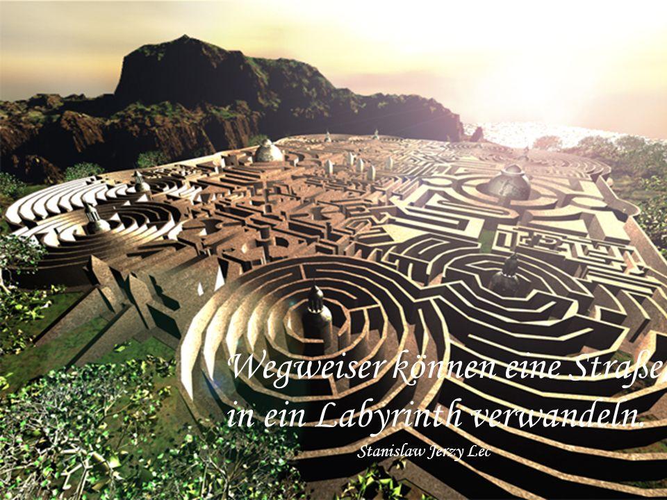 Wegweiser können eine Straße in ein Labyrinth verwandeln.