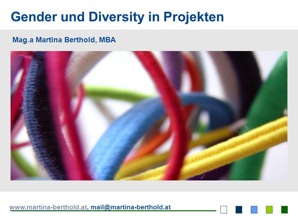 Gender und Diversity in Projekten