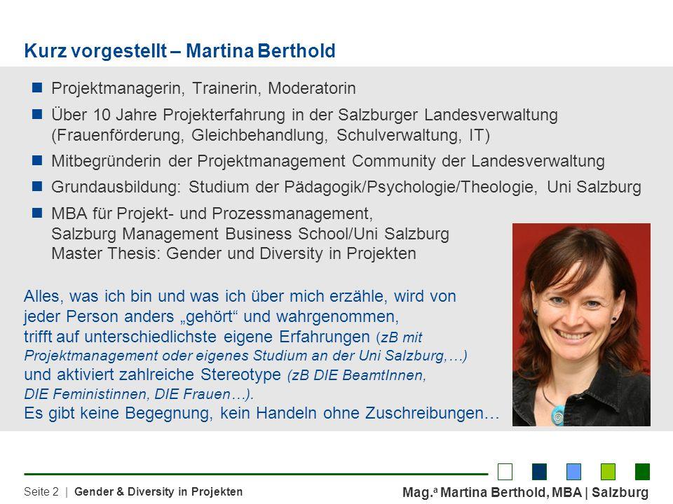 Kurz vorgestellt – Martina Berthold