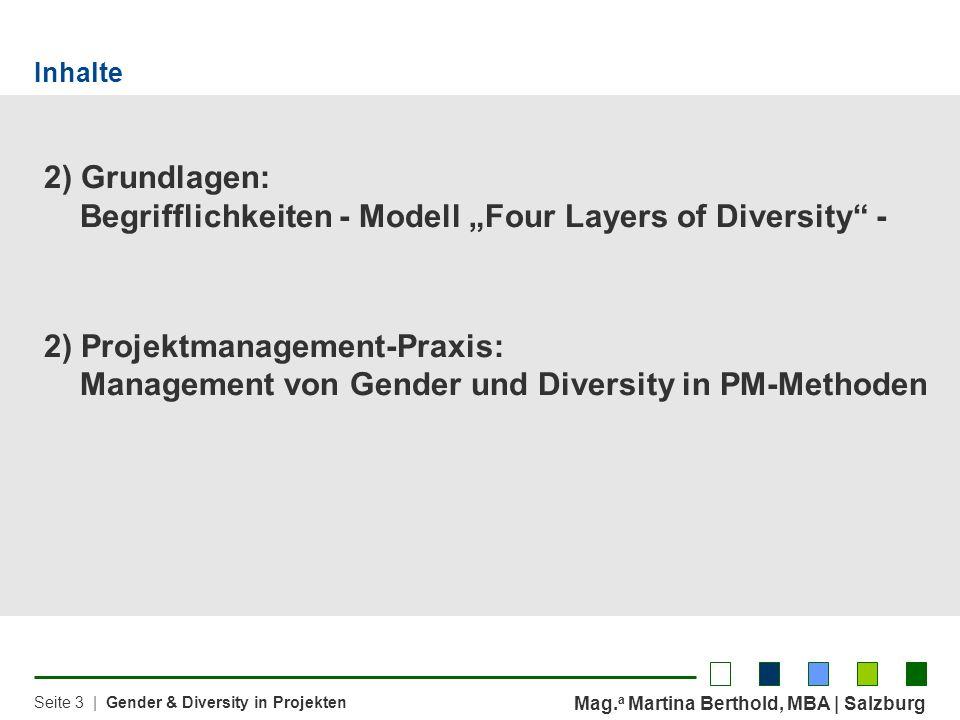 """2) Grundlagen: Begrifflichkeiten - Modell """"Four Layers of Diversity -"""
