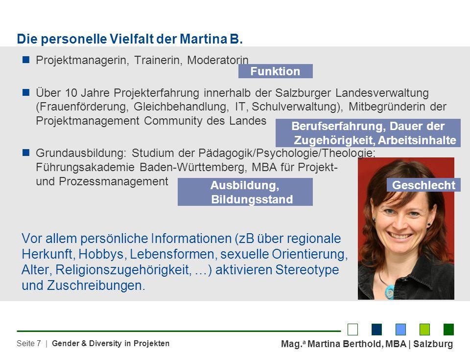 Die personelle Vielfalt der Martina B.