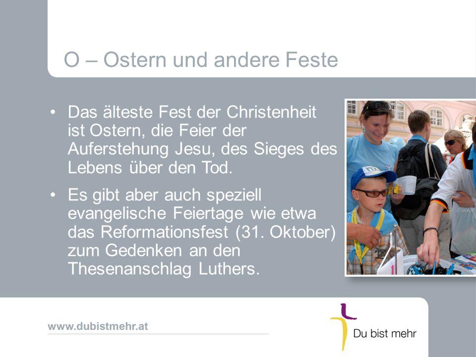 O – Ostern und andere Feste
