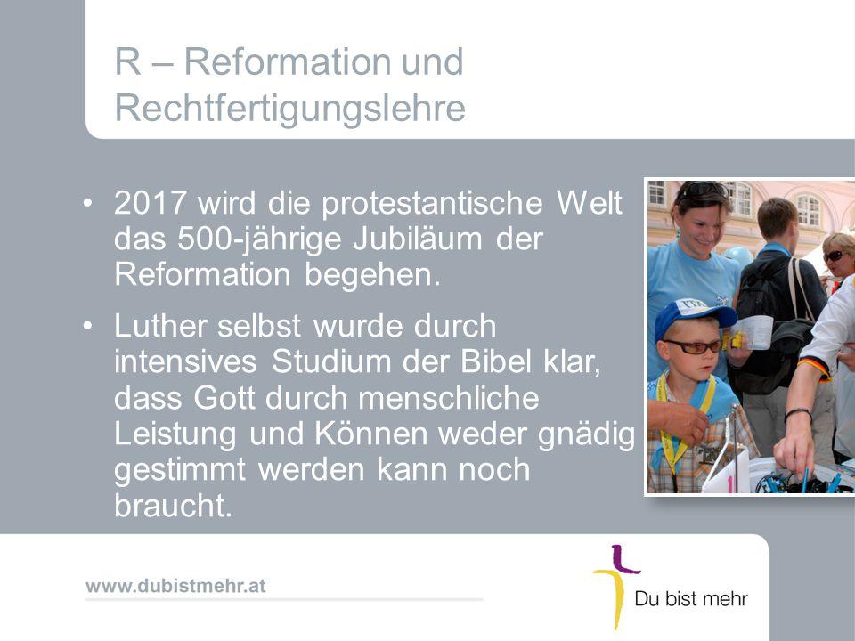 R – Reformation und Rechtfertigungslehre
