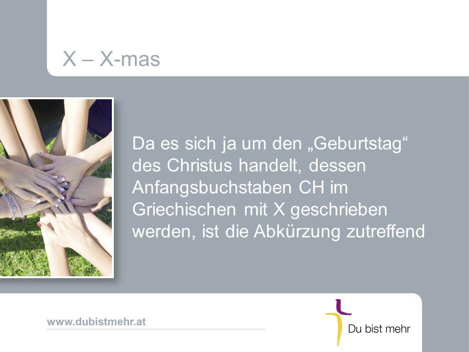 X – X-mas