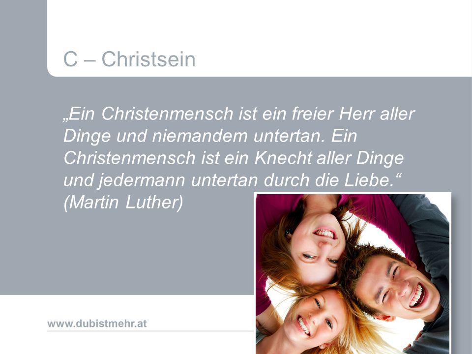 C – Christsein