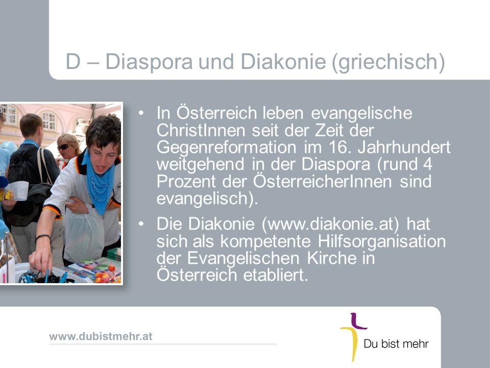D – Diaspora und Diakonie (griechisch)