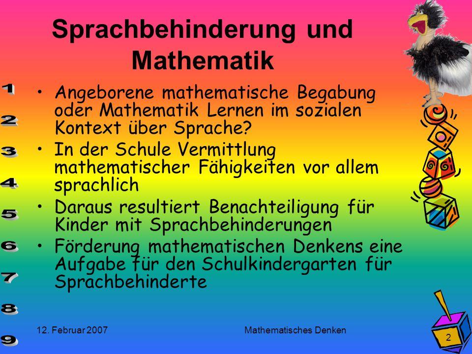 Sprachbehinderung und Mathematik