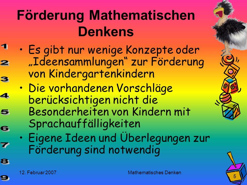 Förderung Mathematischen Denkens