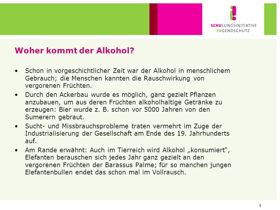 Woher kommt der Alkohol