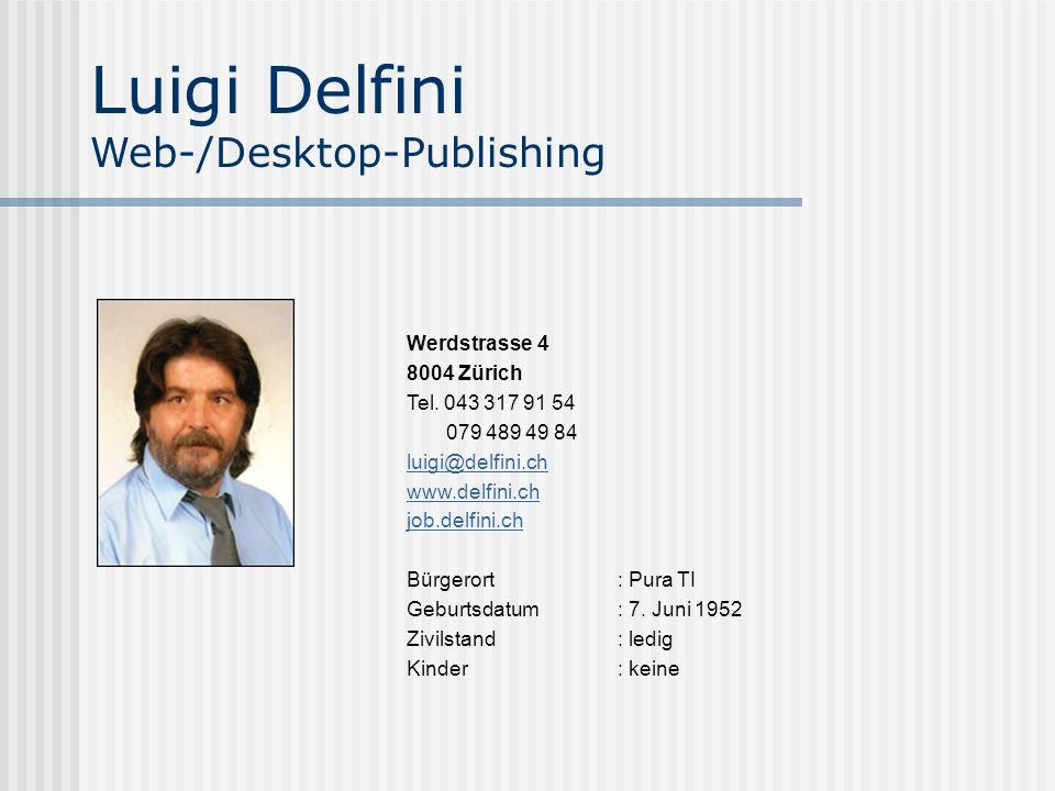 Luigi delfini web desktop publishing ppt herunterladen for Desktop publisher job