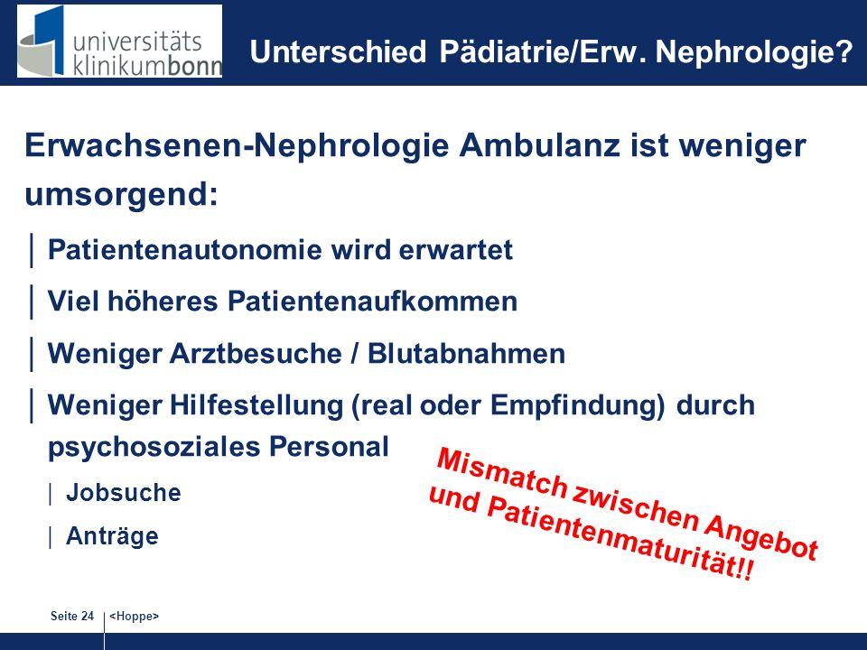 Unterschied Pädiatrie/Erw. Nephrologie