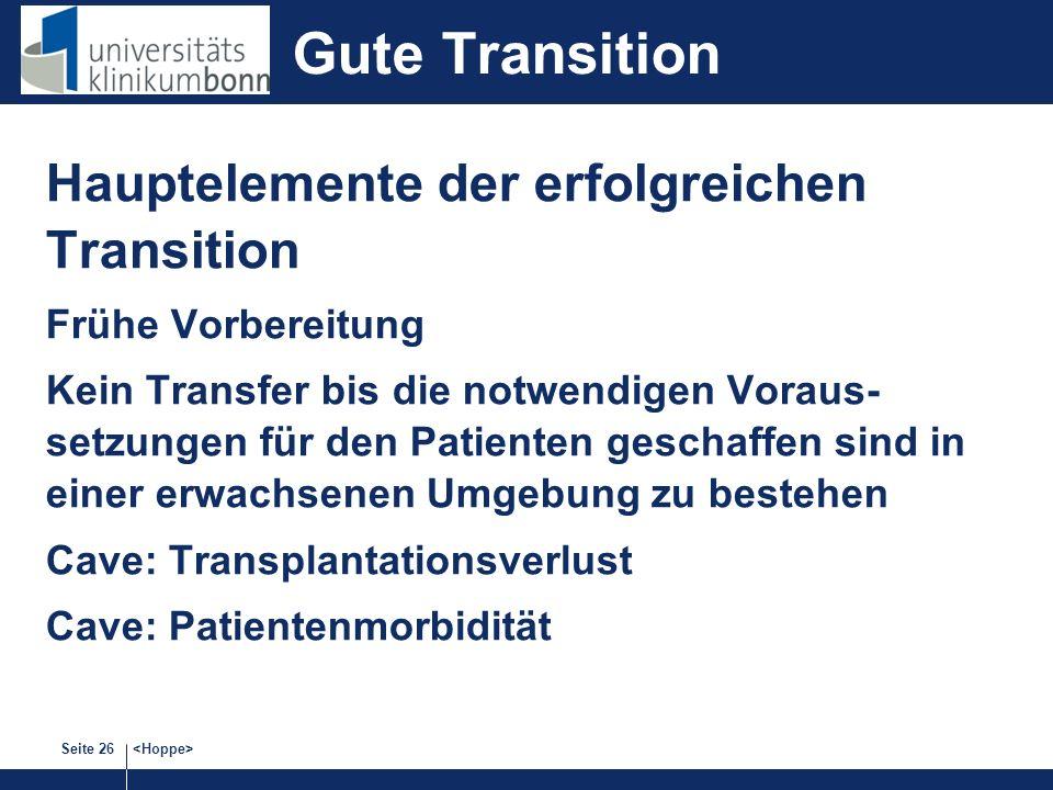 Gute Transition Hauptelemente der erfolgreichen Transition