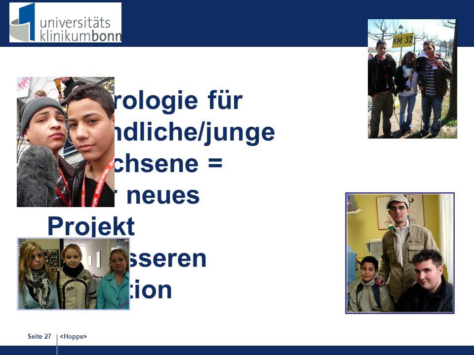 Nephrologie für Jugendliche/junge Erwachsene = unser neues Projekt zur besseren Transition