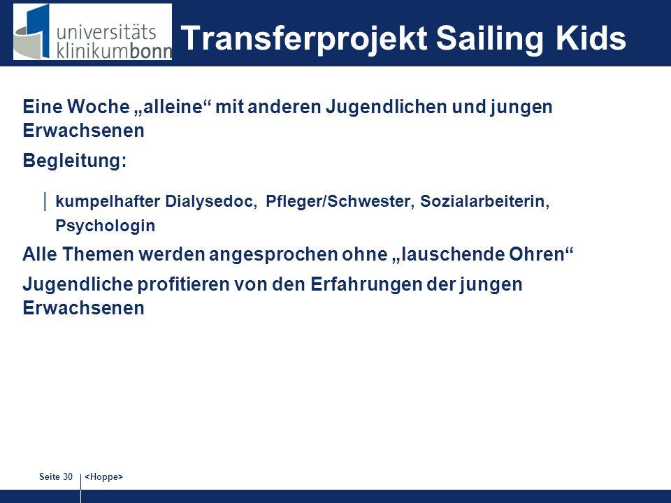 Transferprojekt Sailing Kids