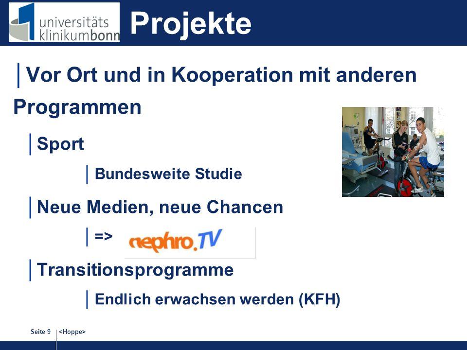 Projekte Vor Ort und in Kooperation mit anderen Programmen Sport