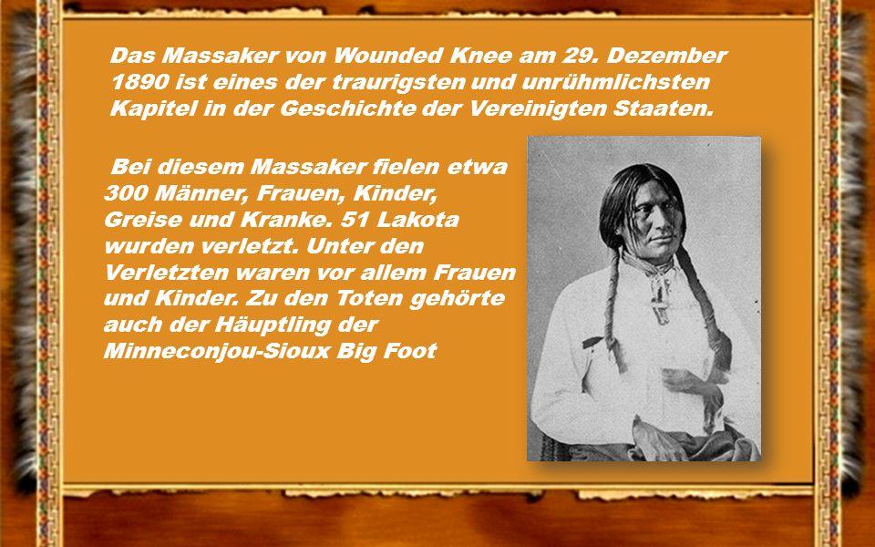 Das Massaker von Wounded Knee am 29