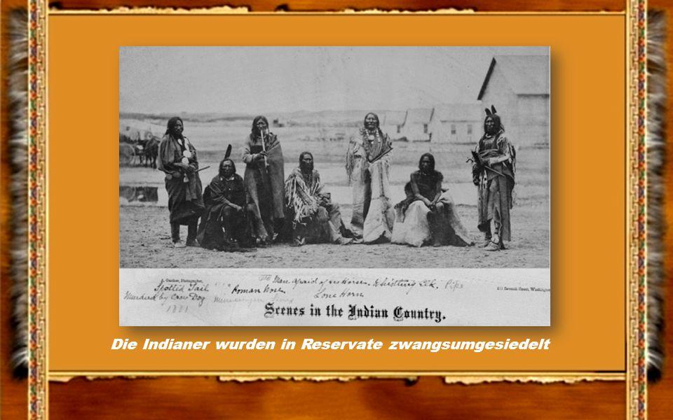 Die Indianer wurden in Reservate zwangsumgesiedelt