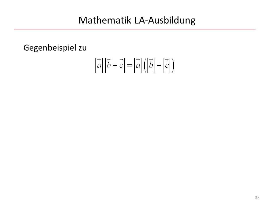 Mathematik LA-Ausbildung