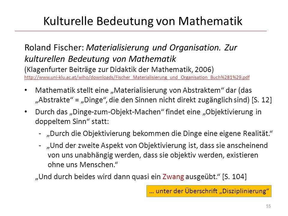 Kulturelle Bedeutung von Mathematik