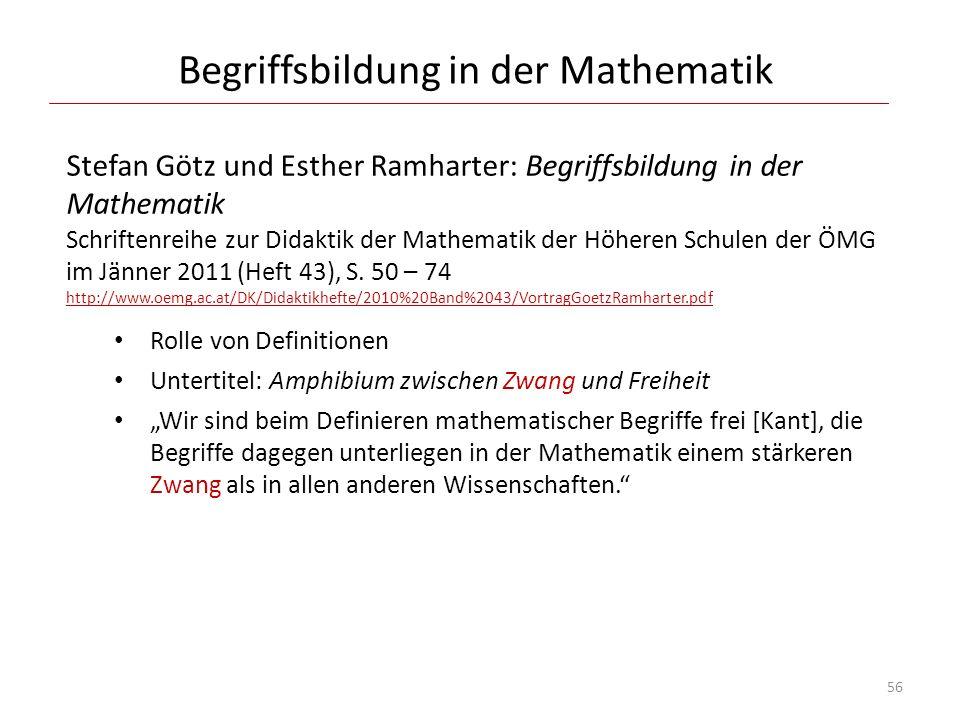 Begriffsbildung in der Mathematik