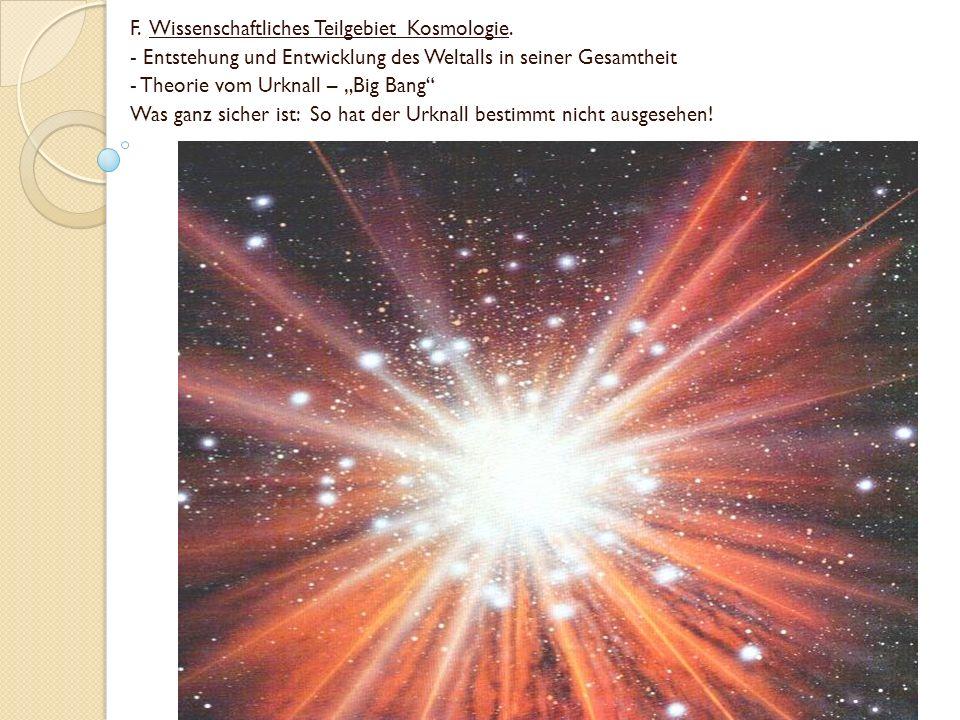 F. Wissenschaftliches Teilgebiet Kosmologie.