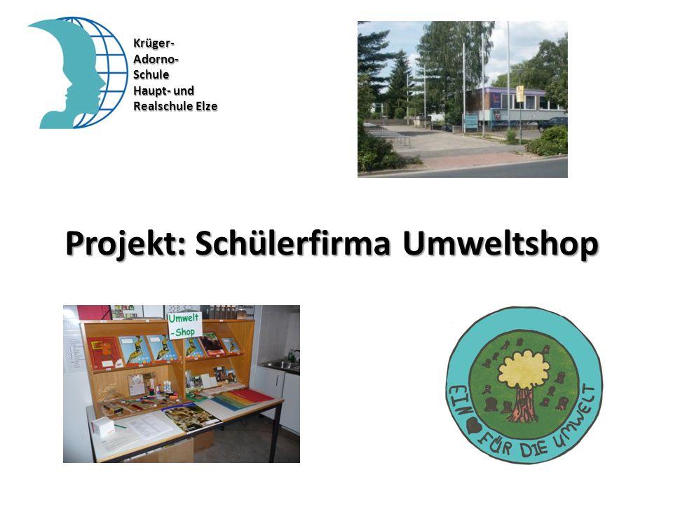 Projekt: Schülerfirma Umweltshop