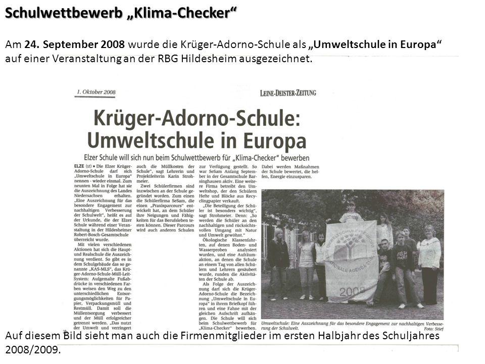 """Schulwettbewerb """"Klima-Checker"""
