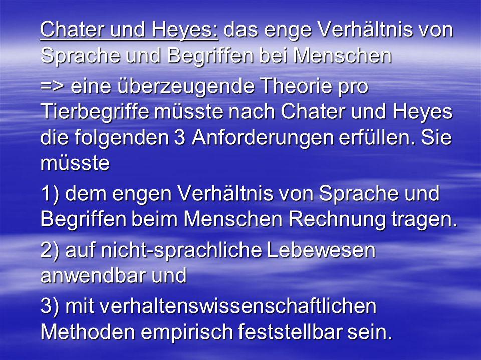 Chater und Heyes: das enge Verhältnis von Sprache und Begriffen bei Menschen
