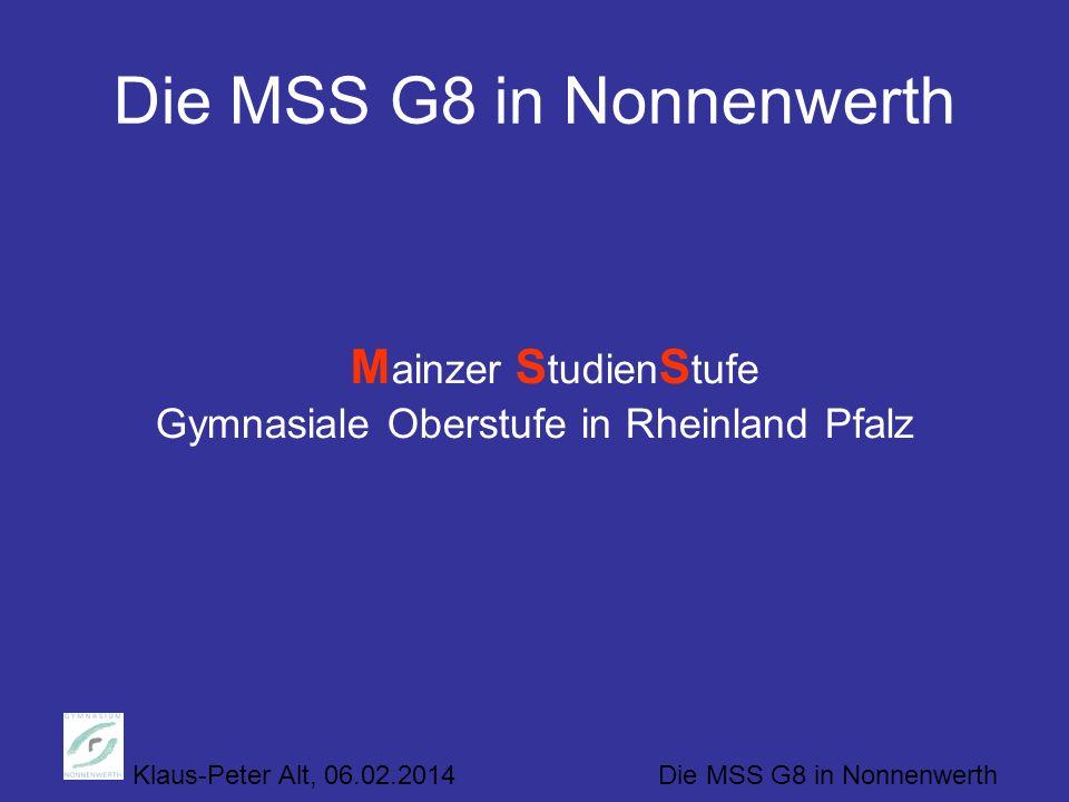 Die MSS G8 in Nonnenwerth