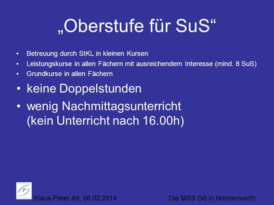 """""""Oberstufe für SuS keine Doppelstunden"""