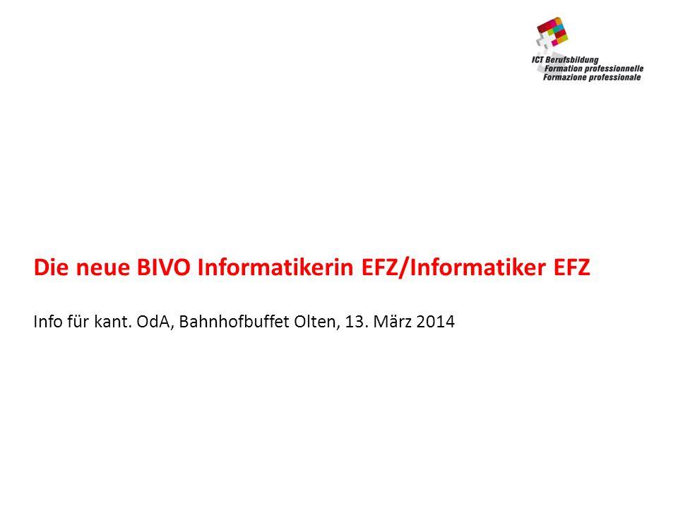 Die neue BIVO Informatikerin EFZ/Informatiker EFZ