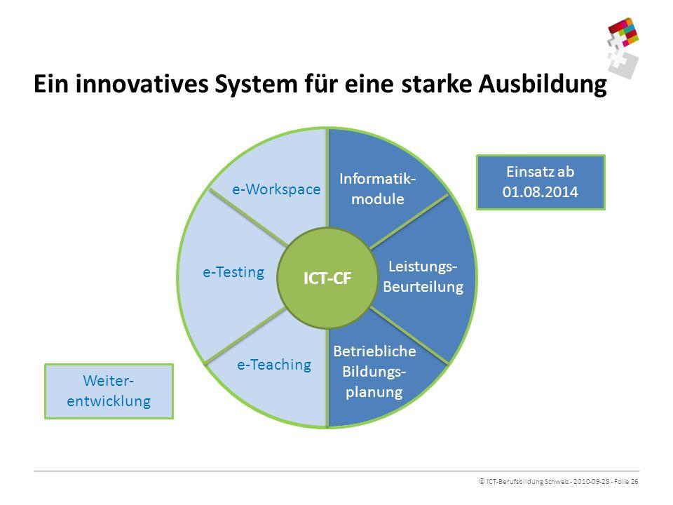 Ein innovatives System für eine starke Ausbildung