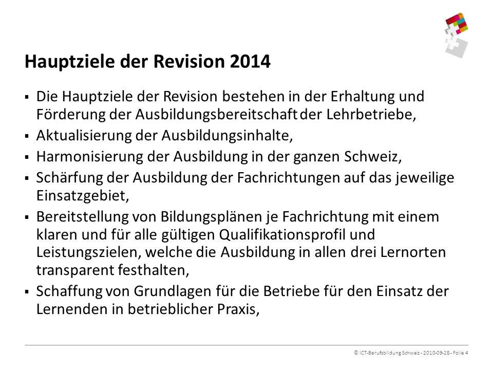 Hauptziele der Revision 2014