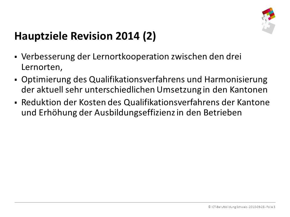 Hauptziele Revision 2014 (2)