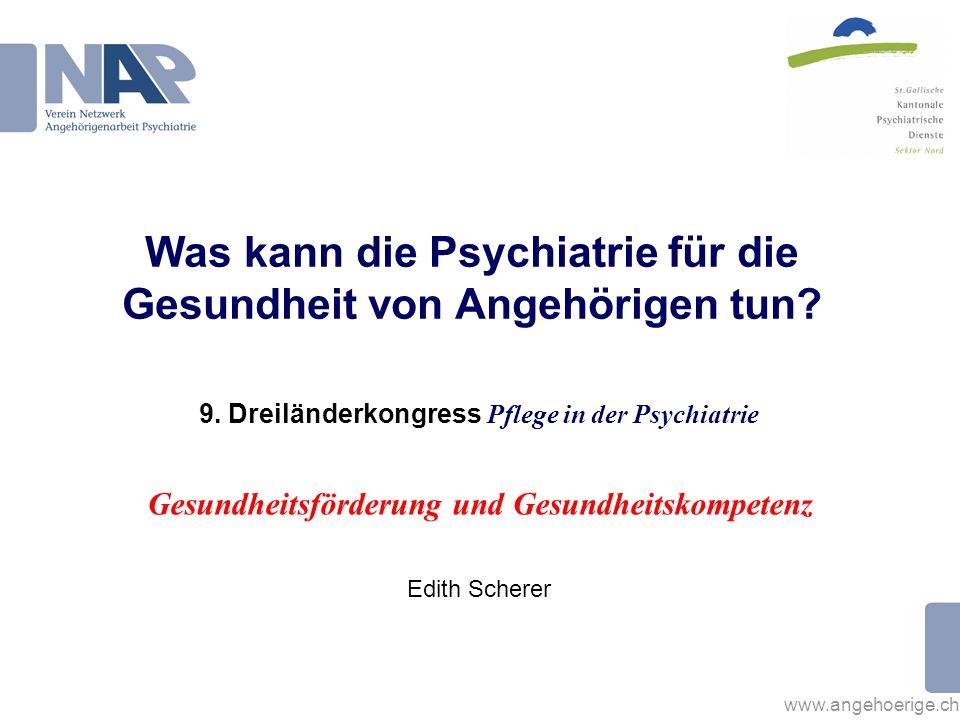 Was kann die Psychiatrie für die Gesundheit von Angehörigen tun
