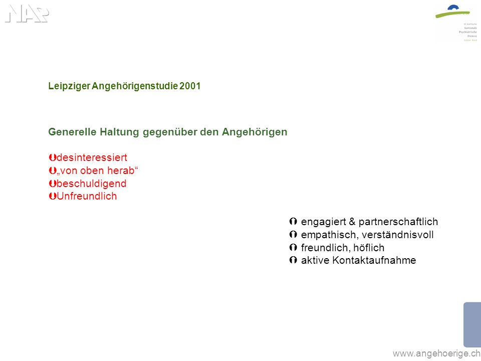 Leipziger Angehörigenstudie 2001