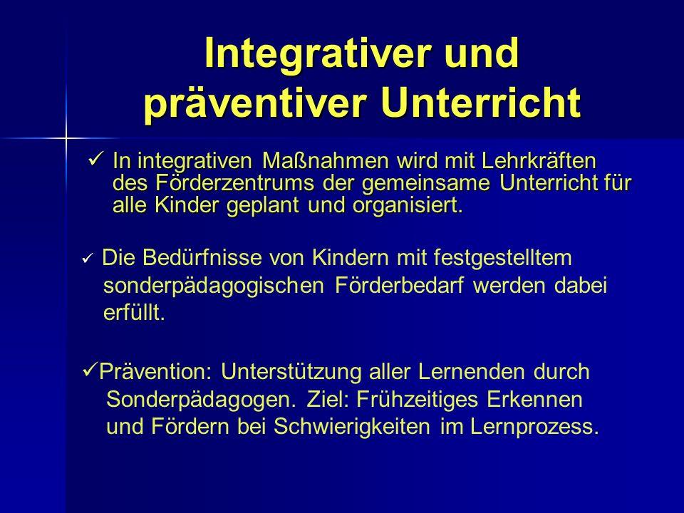 Integrativer und präventiver Unterricht