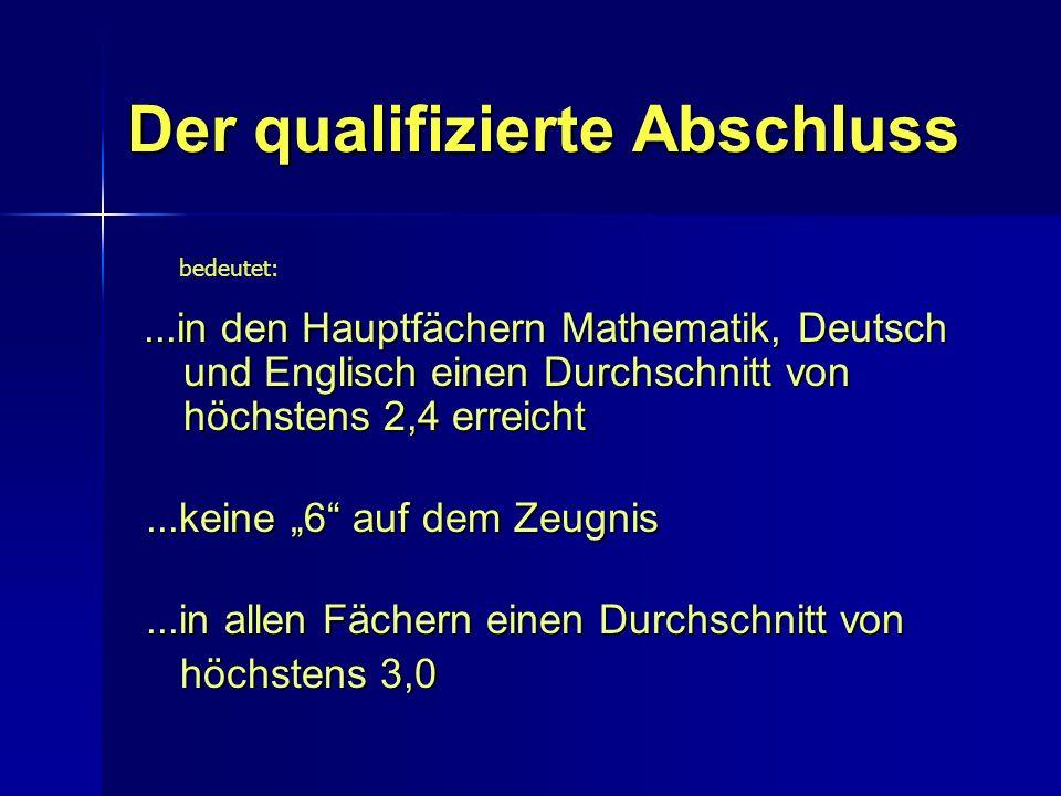 Der qualifizierte Abschluss