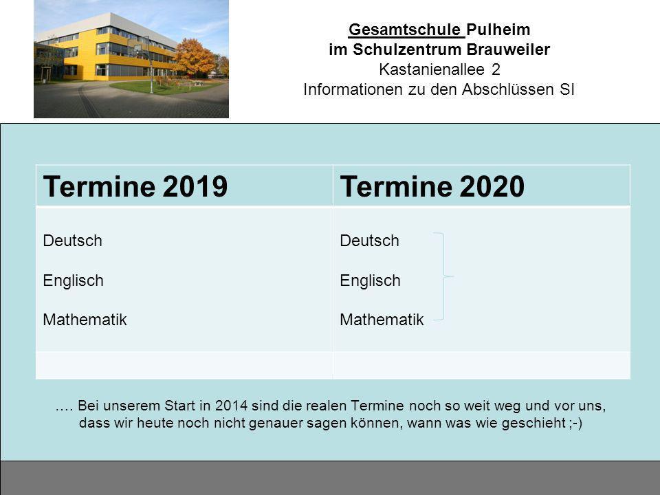 Termine 2019 Termine 2020 Deutsch Englisch Mathematik