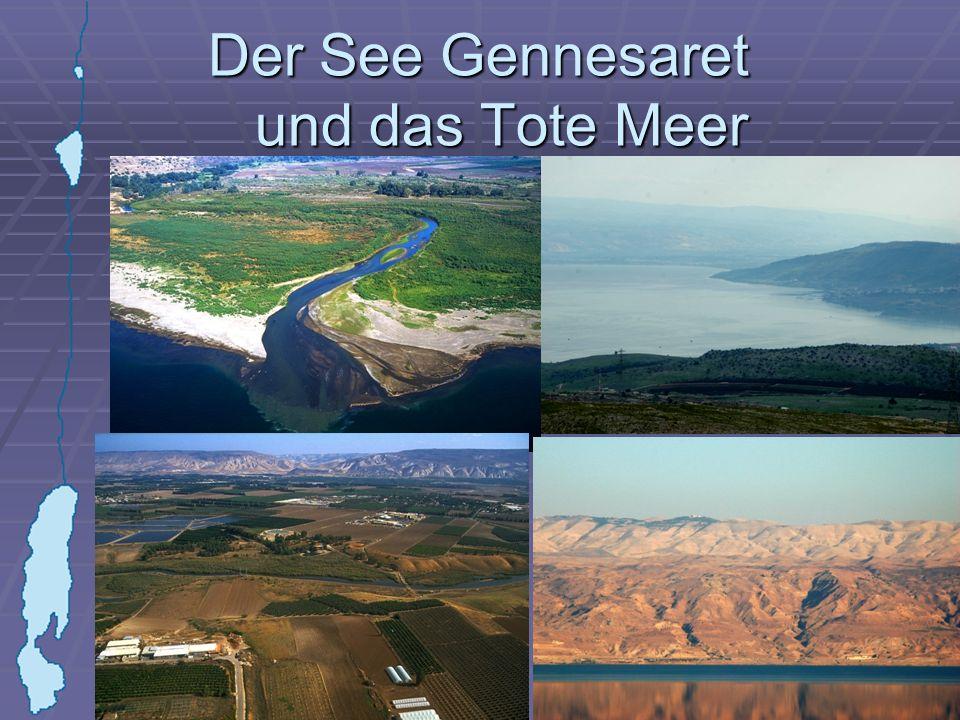 Der See Gennesaret und das Tote Meer